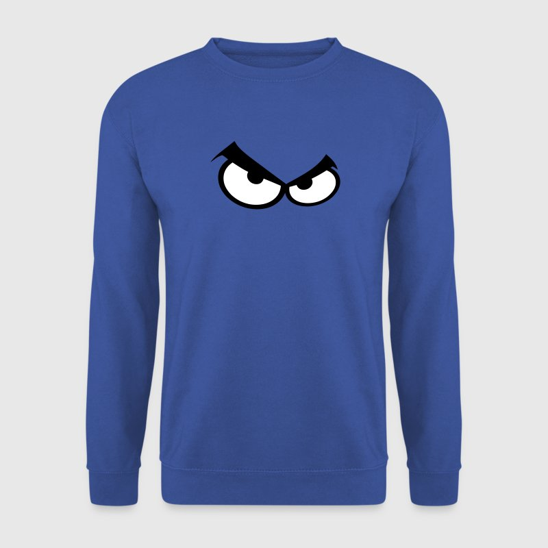 oeil yeux smiley pas content colere - Sweat-shirt Homme