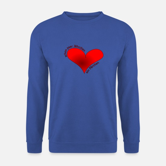 Love Hoodies & Sweatshirts - Even couple of years a couple - Men's Sweatshirt royal blue