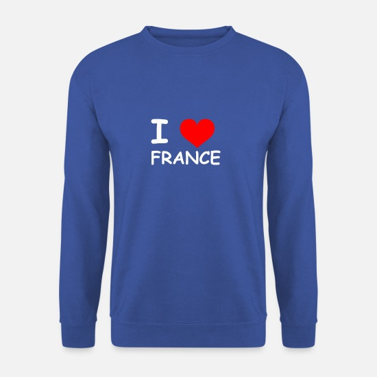 S'aimer Sweat-shirts - J'aime la France - Sweat-shirt Homme bleu royal