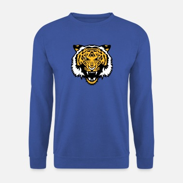 tiger wildes tier cartoontiger 506 - Männer Pullover
