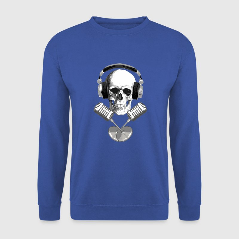 skull microphone - Sweat-shirt Homme