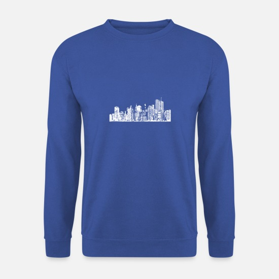 Ville Sweat-shirts - Bâtiments de la ville - Sweat-shirt Homme bleu royal