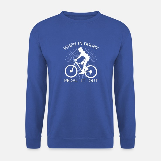 Cykling Sweatshirts & hættetrøjer - Cykel Single Speed Fixie Mountain Bike Gave - Sweatshirt mænd kongeblå