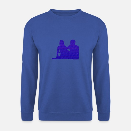 Love Hoodies & Sweatshirts - Dear couple of couples - Men's Sweatshirt royal blue