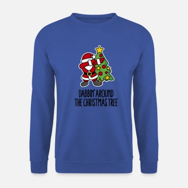 Weihnachten Dabbin' around the Christmas tree - Text - Männer Pullover