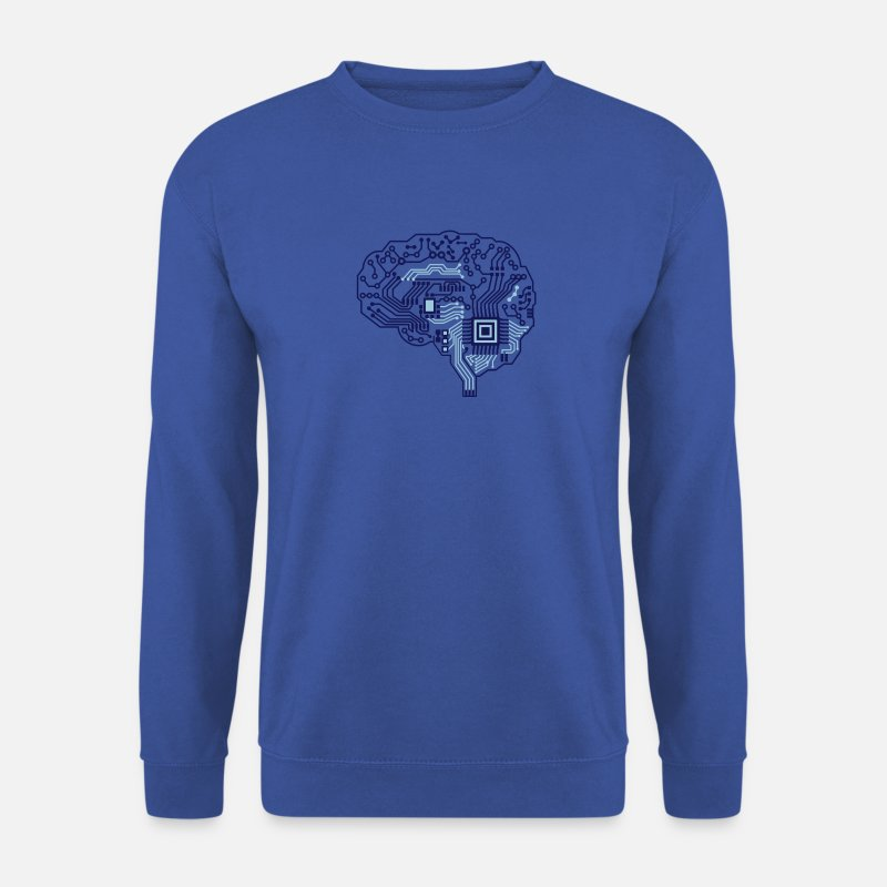 Brain Hoodies & Sweatshirts - brain - Men's Sweatshirt royal blue