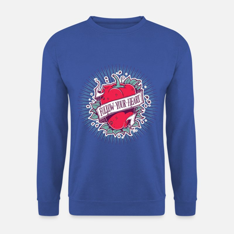 Food Collection Pullover & Hoodies - Follow Your Heart - Männer Pullover Royalblau