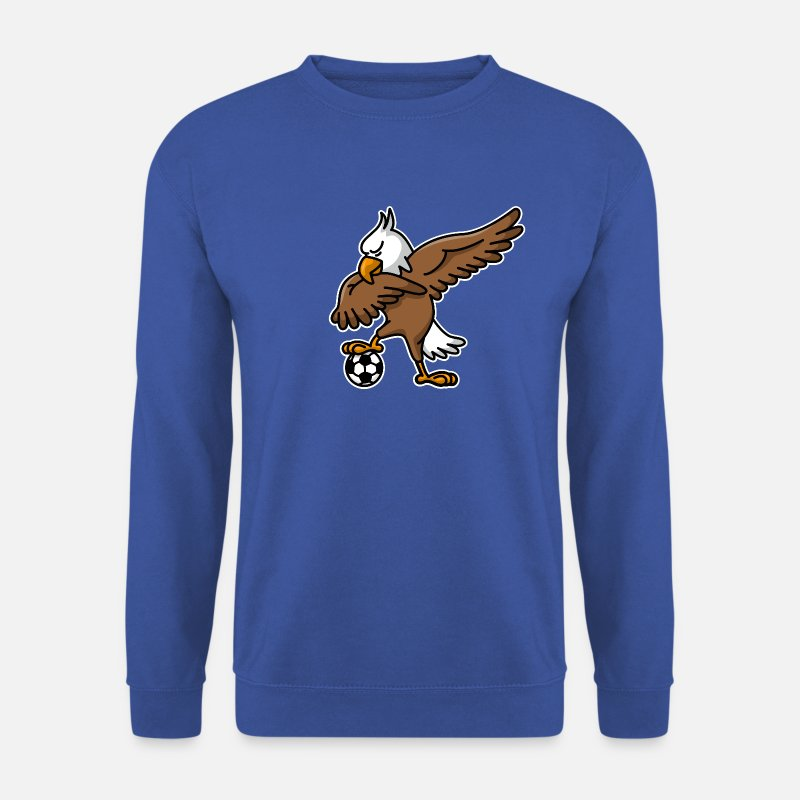 America Hoodies & Sweatshirts - Dabbing dab American Eagle soccer football - Men's Sweatshirt royal blue