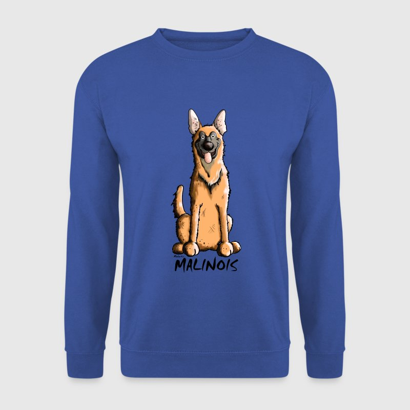 Drôle Malinois Chien - Sweat-shirt Homme