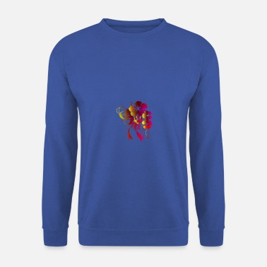 Flora Floral gift with bow ribbon - Men's Sweatshirt