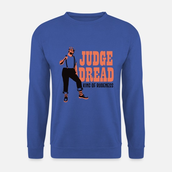 Vinyl Hoodies & Sweatshirts - JudegeDread king of rudeness - Men's Sweatshirt royal blue