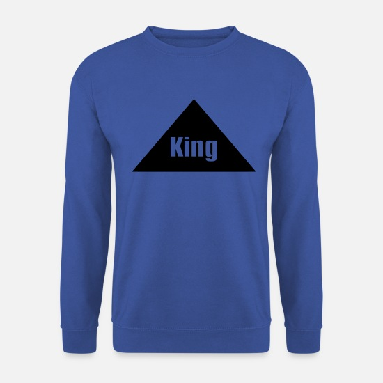 King Queen Sweat-shirts - roi - Sweat-shirt Homme bleu royal