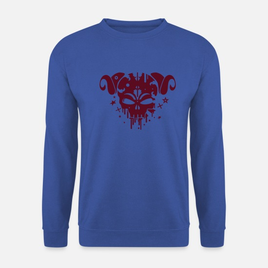 Dark Hoodies & Sweatshirts - Faun skull - Men's Sweatshirt royal blue