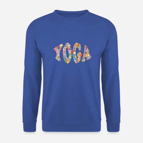 Yogi Hoodies & Sweatshirts - yoga little flowers - Unisex Sweatshirt royal blue