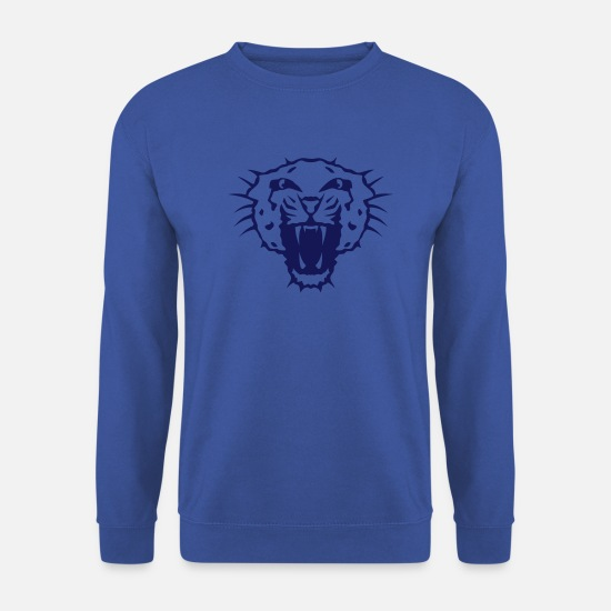 Lynx Sweat-shirts - guepard tete animaux feroce 12 - Sweat-shirt Homme bleu royal