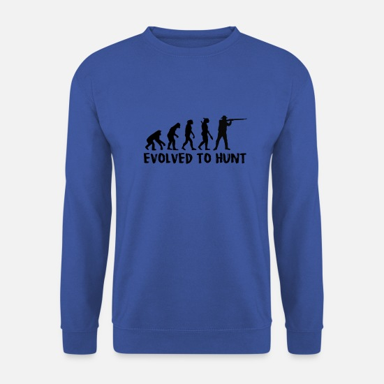 Gift Idea Hoodies & Sweatshirts - Evolution Gift Hunter Wild Wild Animal - Men's Sweatshirt royal blue