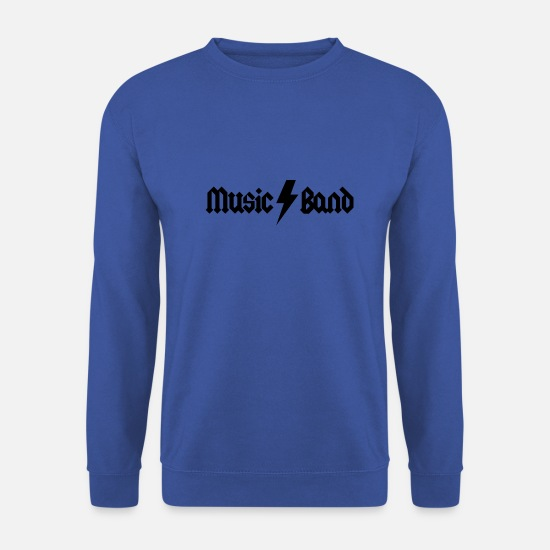 Music Is Life Sweat-shirts - Groupe de musique - Sweat-shirt Unisex bleu royal