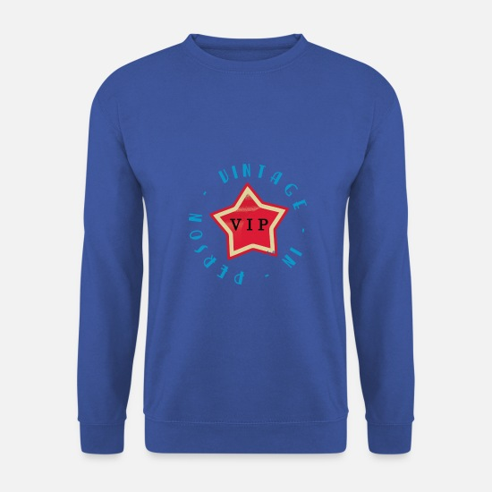 Emblème Sweat-shirts - VIP - Sweat-shirt Homme bleu royal