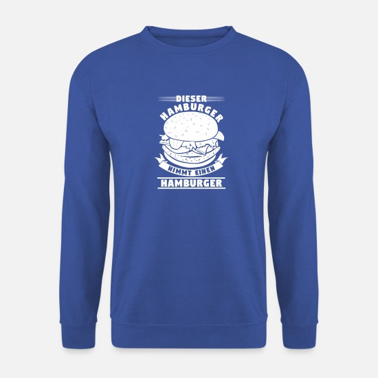 Hamburger Sweat-shirts - Hamburger Hamburg Restaurant nourriture préférée - Sweat-shirt Unisex bleu royal