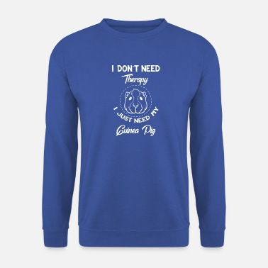 Pigs Guinea pig - guinea pig - therapy - Men's Sweatshirt