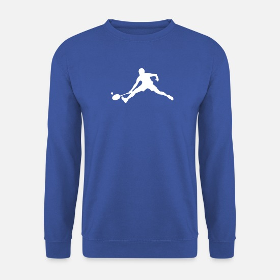 Bestsellers Q4 2018 Sweat-shirts - badminton logo joueur player2 - Sweat-shirt Unisex bleu royal
