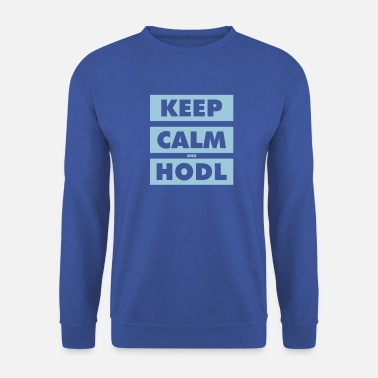 Keep Calm and Hodl blocks - Unisex Sweatshirt