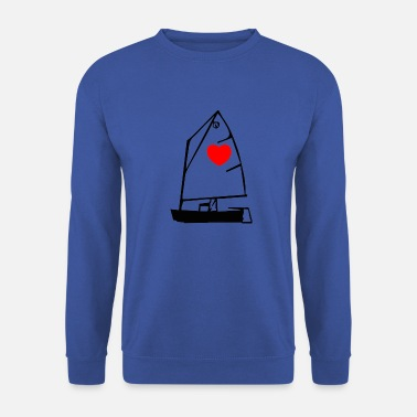 Optimist met hartje - Mannen sweater