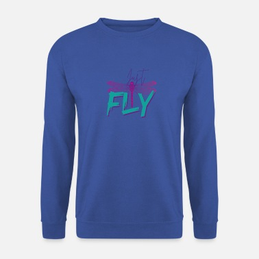 Just Fly - DRAGONFLY Mint Purple - Sweatshirt unisex
