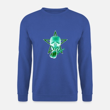 Skull Star Tag Black Green - Sudadera unisex