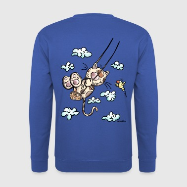 Cat on the swing - Men's Sweatshirt