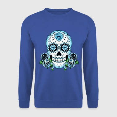 Blue Sugar Skull - Men's Sweatshirt