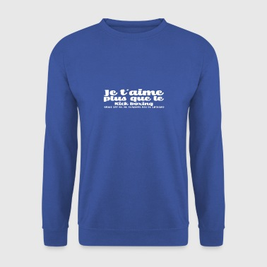 Je t'aime Kick boxing noel - Sweat-shirt Homme