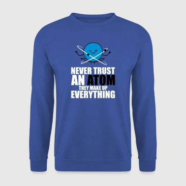 Never Trust An Atom, Make Up Everything - science - Männer Pullover
