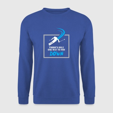 Ski - There is only one way to win - Men's Sweatshirt