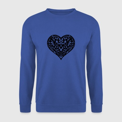 Decorated heart - Men's Sweatshirt