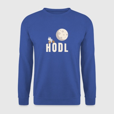 HODL Vélo Flying Moon Cryptocurrency Blockchain - Sweat-shirt Homme
