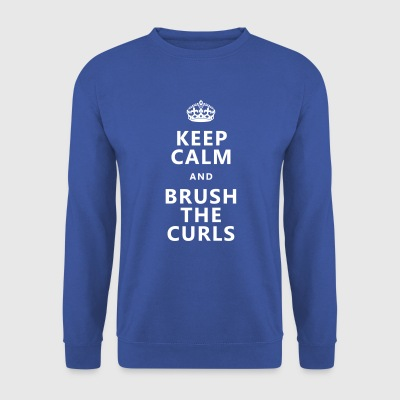 Keep calm and brush the curls - for poodle fans :) - Men's Sweatshirt