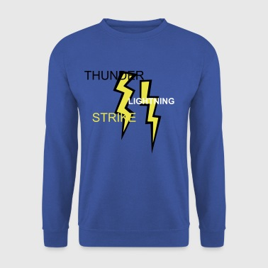 two colored lightning bolts - Men's Sweatshirt