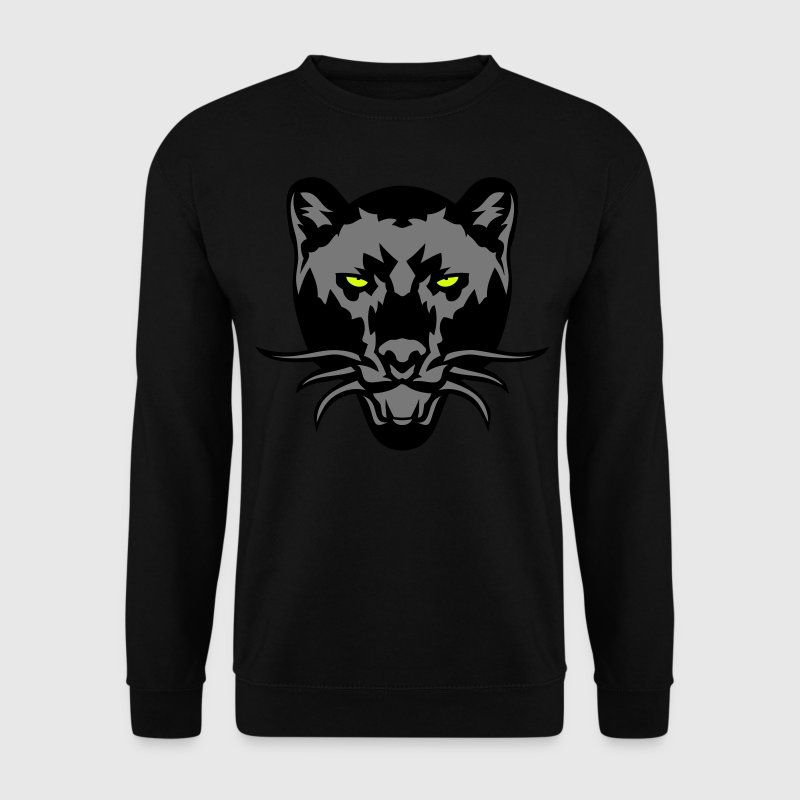 panthere noir dessin animal sauvage logo - Mannen sweater