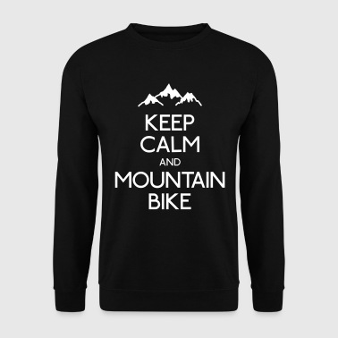 keep calm mountain bike mantenere la calma mtb - Felpa da uomo