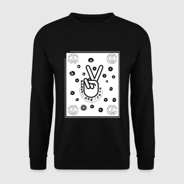 PEACE AND LOVE - Sweat-shirt Homme