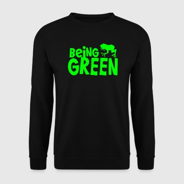 being green with a green tree frog - Men's Sweatshirt