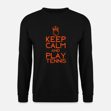 Balle De Tennis keep calm play tennis couronne balle - Sweat-shirt Homme