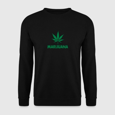 marijuana with leaf - Bluza męska