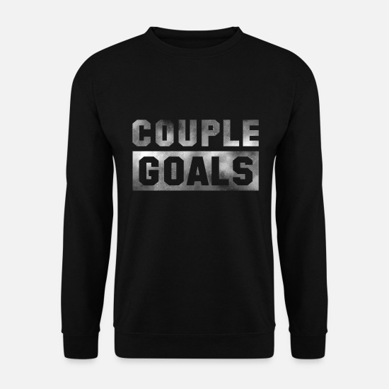 Love Hoodies & Sweatshirts - Couple Goals Couple Couple Relationship Valentines Day - Men's Sweatshirt black