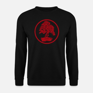Japanese Art Bonsai tree red Japanese art garden art - Men's Sweatshirt