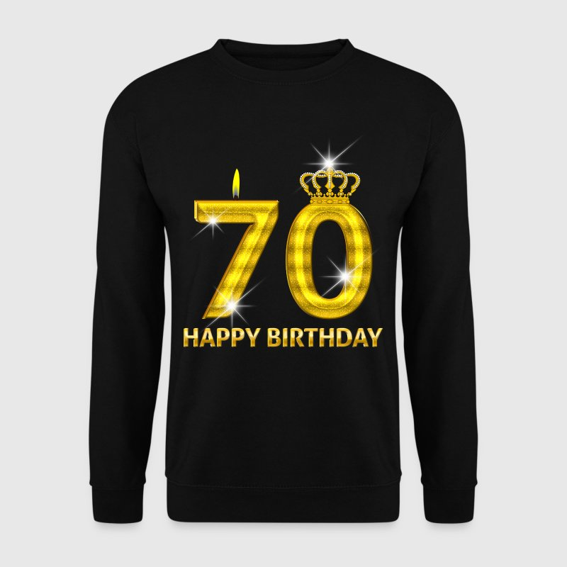 70 - happy birthday - birthday - number gold - Men's Sweatshirt