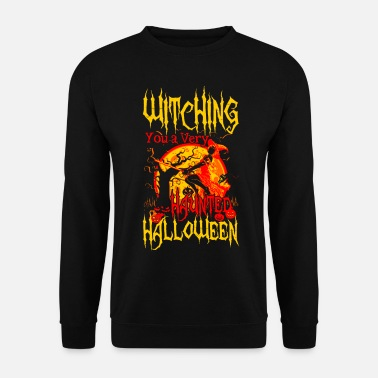 Hunting Witching you a hunted Halloween - Men's Sweatshirt