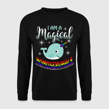 Magical Homosexwhale - Gay Pride - Genser for menn