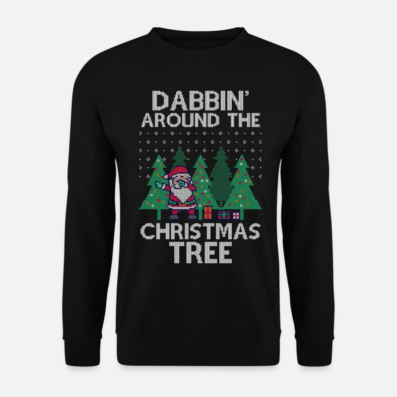 Grappige Sweaters - Dabbing Santa Dab Ugly Christmas Sweater - Mannen sweater zwart